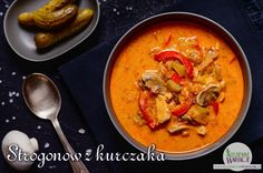 Strogonow z kurczaka | Bezglutenowe Kuchenne Wariacje Aga, Other Recipes, Thai Red Curry, Love Food, Food And Drink, Cooking Recipes, Ethnic Recipes, Dinners, Diet