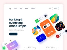 Website Header Design, Homepage Design, App Design, Landing Page Inspiration, Website Design Inspiration, Banks Website, Marketing Website, Website Home Page, Fashion Business