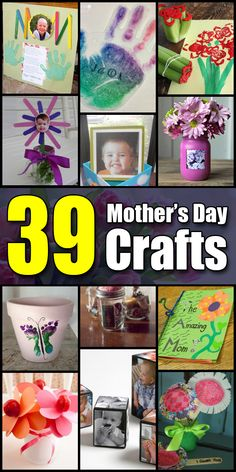 39 Mother's Day Crafts for Kids - Craft Fiesta Mothers Day Crafts For Kids, Diy Gifts For Kids, Crafts For Kids To Make, Kids Crafts, Mother's Day Projects, Dad Day, Classroom Crafts, Alphabet Activities, Party Themes