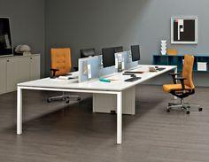 Postazione di lavoro multipla / per open space ASTERISCO IN FREE STANDING by Alberto Stella Design Manager  ESTEL