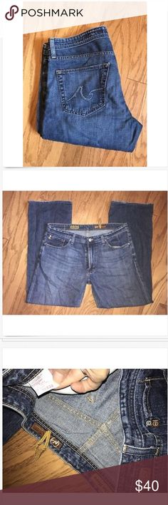 Mens Adriano Goldschmied The Hero Jeans 36 x 31 Mens AG the Hero Relaxed Boot Jeans! 36 x 31 hemmed, Good Used! Ag Adriano Goldschmied Jeans Relaxed