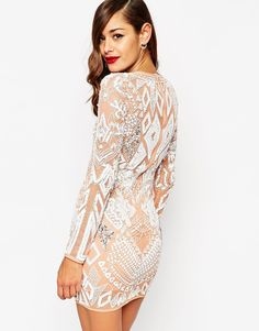 Image 2 of ASOS RED CARPET Ergonomic Embellished Mini Body-Conscious Dress