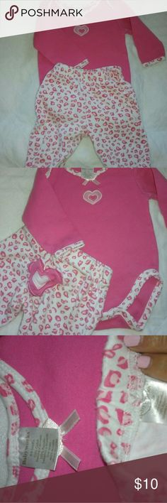 BabyWorks cute, cute, cute...pink onesie with bottoms.  heart on the bum. BabyWorks Matching Sets