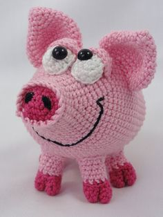 Amigurumi Crochet Pattern - HAMilton the Piglet - This is a crochet pattern and not the toy. Following this pattern Hamilton will be approximately 10 cm by 13 cm. The pattern is available in English. More photos available on Facebook: https://www.facebook.com/media/set/?set=a.894192470591270.1073741894.550384588305395&type=1 Or check out IlDikko website: http://ildikko-crochet.com After completion of your order the PDF file containing the ...