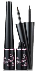 Lioele Dollish Ink Eye Liner (Black) is a 24 hour eyeliner with a water-proof and smudge-proof formula that delivers effortless and precise application with its revolutionary microfiber brush tip. This quick-drying formula helps create subtle to dramatic looks. Comes in dark black or dark brown color.