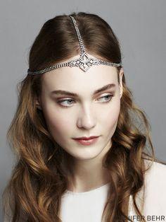 Jennifer Behr Swarovski crystal diadem, available at www.jenniferbehr.com