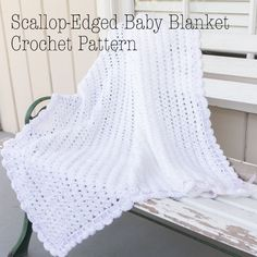 "I crocheted a baby blanket for my cousin's new baby last year.  I've finally gotten around to sharing the pattern with ya!  Here it is!  I hope you love it!The finished blanket size measures 38"" x 38"".Materials:This pattern uses yarn weight 3 (light).  Use your preferred brand…"