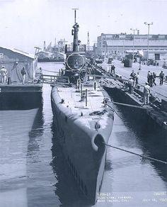 USS Wahoo (SS-238). At the Mare Island Navy Yard, California, 16 July 1943.