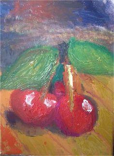 Cherries Painter-Donna Mechkuevska;oil/canvas;15/24sm;2015