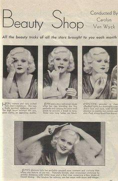 Jean Harlow, vintage magazine article.