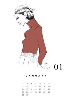 #marinetmarine #carolinemarine #illustration #calendar #berlin