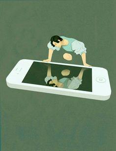 Artista faz duras críticas a sociedade moderna com ilustrações ⋆ Geekness