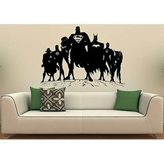 Dc Comics Wall Art dc comics justice league silhouette wall art stickers
