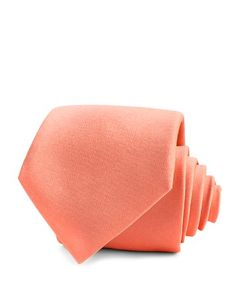 $Thomas Pink Elmswell Solid Classic Tie - Bloomingdale's Light Peach, Light Orange, Tie And Pocket Square, Pocket Squares, Thomas Pink, Color Palate, Tie Colors, Bow Ties, Pure Silk