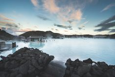 The Blue Lagoon's geothermal seawater is ocean water and freshwater, enriched with silica, algae, and minerals. Great Pyramid Of Giza, Pyramids Of Giza, See The Northern Lights, Victoria Falls, Seven Wonders, Great Barrier Reef, Blue Lagoon, Adventure Is Out There, Natural Wonders