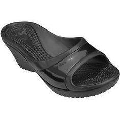 wengpot new Auth Women's Crocs Sately Black W7/ S7 Orig Price P2250 freeship