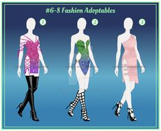 #6-8 Fashion Adoptables [OPEN-CASH] by coras-adoptables