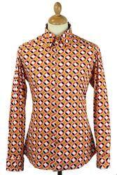 Sunset MADCAP ENGLAND 60s High Collar Mod Shirt M