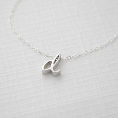 NEW- Gold or Silver LOWERCASE initial Necklace
