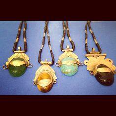 #Tuareg necklaces from #Morocco. #TribalJewelry #AfricanJewelry @PuraVidaWorldlyArt