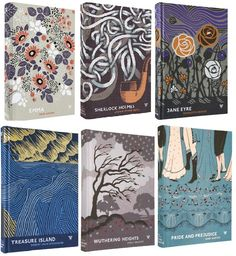 Lovely book covers, but unfortunately only available in the UK through Waterstones.