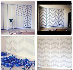 streifen mit malerband an der wand streichen deko etc pinterest w nde streichen streifen. Black Bedroom Furniture Sets. Home Design Ideas