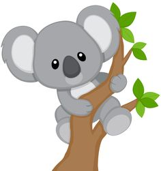 Cute Koala Bear Colorful Wall Decals - Koala Bears Climbing Trees / Jungle Zoo Animals Animal For Kids Bedroom Babies Baby Nursery Rooms Koala Baby, Cute Koala Bear, 2 Baby, Zoo Animals, Animals For Kids, Cute Animals, Koala Craft, Applique Patterns, Cute Drawings