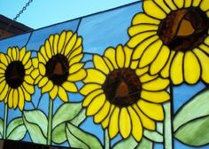 HANDMADE STAINED GLASS  Large Sunflower by SunflowerGlassworks, $225.00
