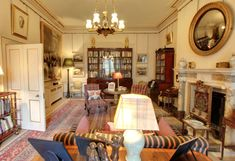 Inside Clarence House: Prince Charles' Home - The Lancaster Room with comfy British Decor Dumfries House, British Decor, Country House Interior, Country Houses, English Country Decor, Clarence House, Small Room Decor, English House, Prince Charles