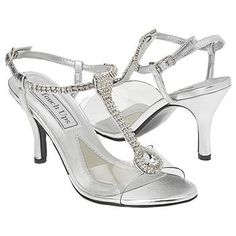 Strappy silver shoes with rhinestones...post picks - Project Wedding Forums