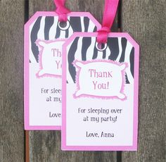 girls slumber party invites   Send the girls home with some sleepover favors packaged up with these ...