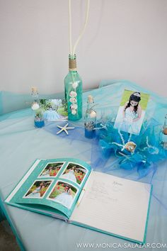 Fort Worth Quinceanera Photography |Marissa celebrated her sweet 15th birthday with her close family and friends in August. Her parents had a quinceanera reception for her with an Under the Sea theme. Everything was combined with the colors of the sea and little details that included seashells…