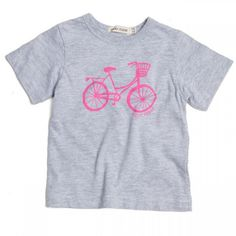 What a stunning, versatile little Tee this is! The pink bicycle print adds a charming quality, at the same time keeping the garment simple and easy to match and wear. I would combine this Tee with almost anything in your Sticky-Fudge wardrobe Little Girls, Girl Outfits, Dressing, Tees, Mens Tops, T Shirt, Clothes, Fashion, Baby Clothes Girl