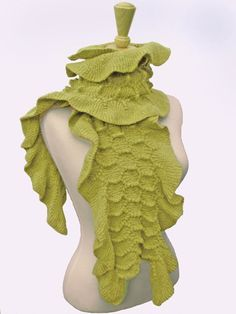 """Sonya Mackintosh says her scarves are """"delightfully nubby and uniquely three-dimensional"""". We think they look like yummy ice cream treats! Smithsonian Craft2Wear, Oct 1-3, 2015, Washington, DC. http://swc.si.edu/craft2wear Boa by Sonya Mackintosh"""