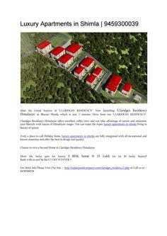 Luxury apartments in shimla
