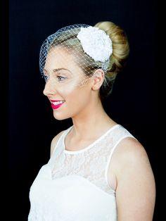Birdcage veil, wedding veil, veil, bridal veil, blusher veil, bridal headpiece, bird cage veil, bridal fascinator, bandeau veil short veil by EileenTreacy on Etsy https://www.etsy.com/listing/198044173/birdcage-veil-wedding-veil-veil-bridal