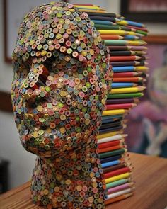 Color Blind: Colorful Pencil Sculpture By Molly Gambardella - Art Attack Street Art, Simple Illustration, Watercolor Illustration, Inspiration Art, Wow Art, Art Abstrait, Art Plastique, Pencil Art, Oeuvre D'art