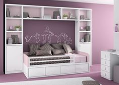 10 Clever Storage Hacks For A Tiny Bedroom - House Interior Designs Diy Furniture, Bedroom Furniture, Bedroom Decor, Bedroom Apartment, Bedroom Wall, Girl Room, Girls Bedroom, Baby Room, Tiny Bedroom Storage
