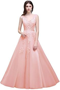 New MisShow Women's Double V Neck Applique Long Prom Tulle Evening Gowns Formal online. Find the perfect NY Collection Dresses from top store. Sku xvgx50650cusq80883