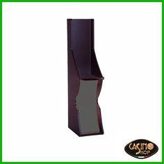 ART.0131 Divisorio per slot machine o VLT Robusto ed attraente modulo, realizzato in laminato bicolore: nero e grigio. Su richiesta, possibilità di personalizzare il modulo nelle dimensioni e nei colori del laminato.  Dimensioni (circa): H 135 x L 24 x P 55 cm