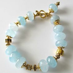 Handmade Beaded Jewelry And Lampwork Jewelry Designs - Pacificjewelrydesigns.com - Amazonite gemstone beaded bracelet
