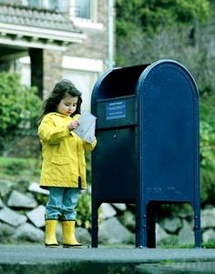 I used to walk to the corner of Manning and Olympic with my Grandpa to stuff our letters in the big blue box. You've Got Mail, Fun Mail, Spanish Flashcards, Spanish Vocabulary, Old Mailbox, Mail Call, Going Postal, Handwritten Letters, Post Box
