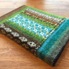 """""""In the name of bookmaking, I've done some pretty unspeakable things to my @knitsonik swatch this week..."""" gorgeous repurposing of KNITSONIK swatch by Flutterbyknits"""