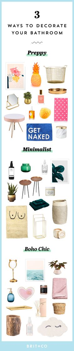 Save these preppy, minimal and boho chic home decor ideas to transform your bathroom into a spa.