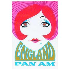 Reproduction' Pan Am England' Travel Poster ($81) ❤ liked on Polyvore featuring home, home decor, wall art, posters, twig wall art, framed wall art, twiggy poster, pan am and framed posters