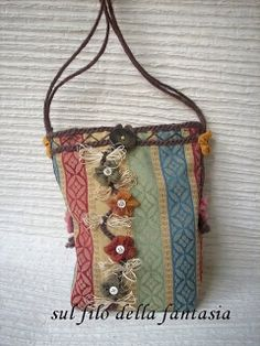 Boho Bags, Sewing Stitches, Market Bag, Purse Wallet, Purses And Bags, Projects To Try, Handbags, Tote Bag, Lana