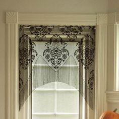 Halloween Pillows and Curtains | Home > Home Decor > Curtains / Valances > Skull Damask Valances