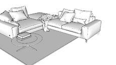 3D Model of sofa góc