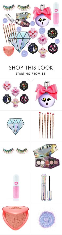"""Cutey McCuterson From Cuteville"" by missmygreenhair ❤ liked on Polyvore featuring beauty, Lanvin, Unicorn Lashes, FromNicLove, LunatiCK Cosmetic Labs, Sugarpill, tarte, Too Faced Cosmetics and The Gypsy Shrine"