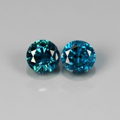 Perfect pair of round Fancy Blue Africa Brilliant, / Colored Diamonds, Natural Gemstones, Africa, Pairs, Fancy, Blue, Shopping, Gemstones